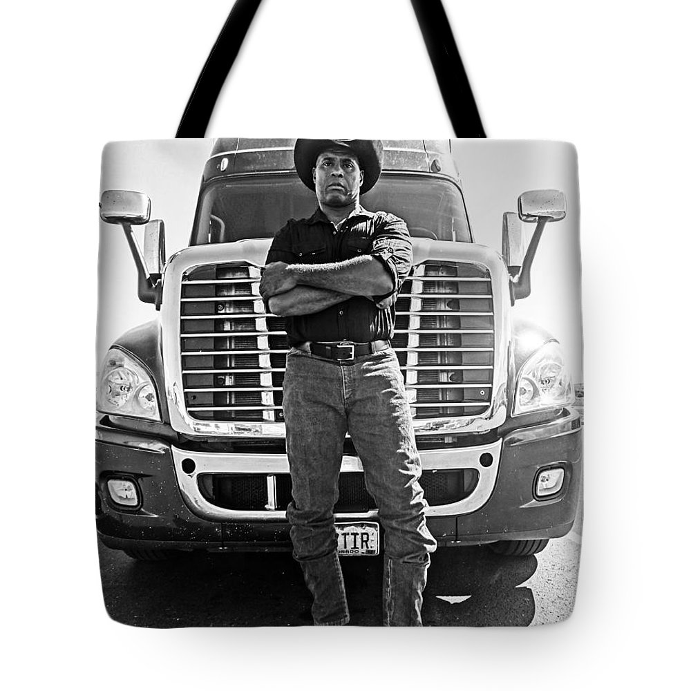 Truck Tote Bag featuring the photograph Don't Mess With My Truck by Korynn Neil