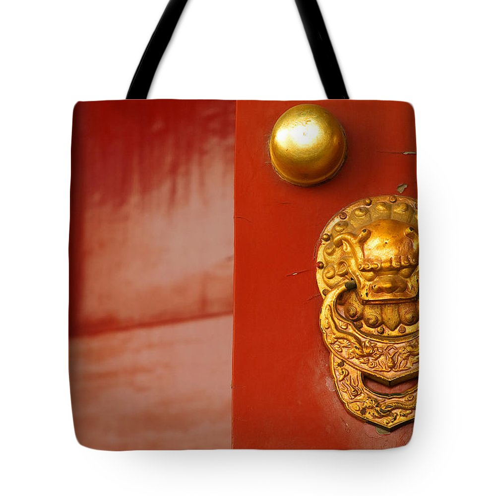 China Tote Bag featuring the photograph Door Handle by Sebastian Musial