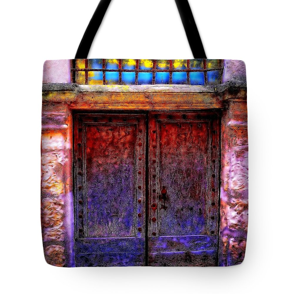 Newel Hunter Tote Bag featuring the photograph Door Number 5 by Newel Hunter