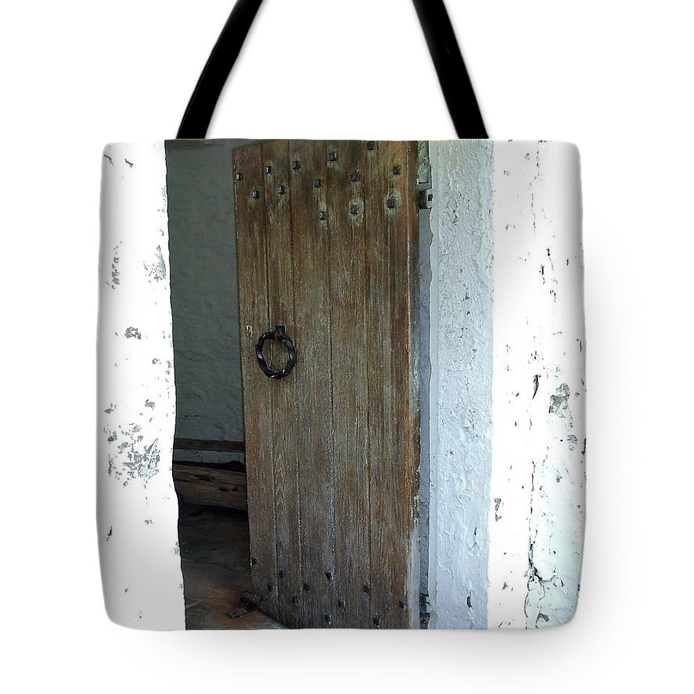 Heavy Tote Bag featuring the photograph Door To The Old Lighthouse by Susan Wyman