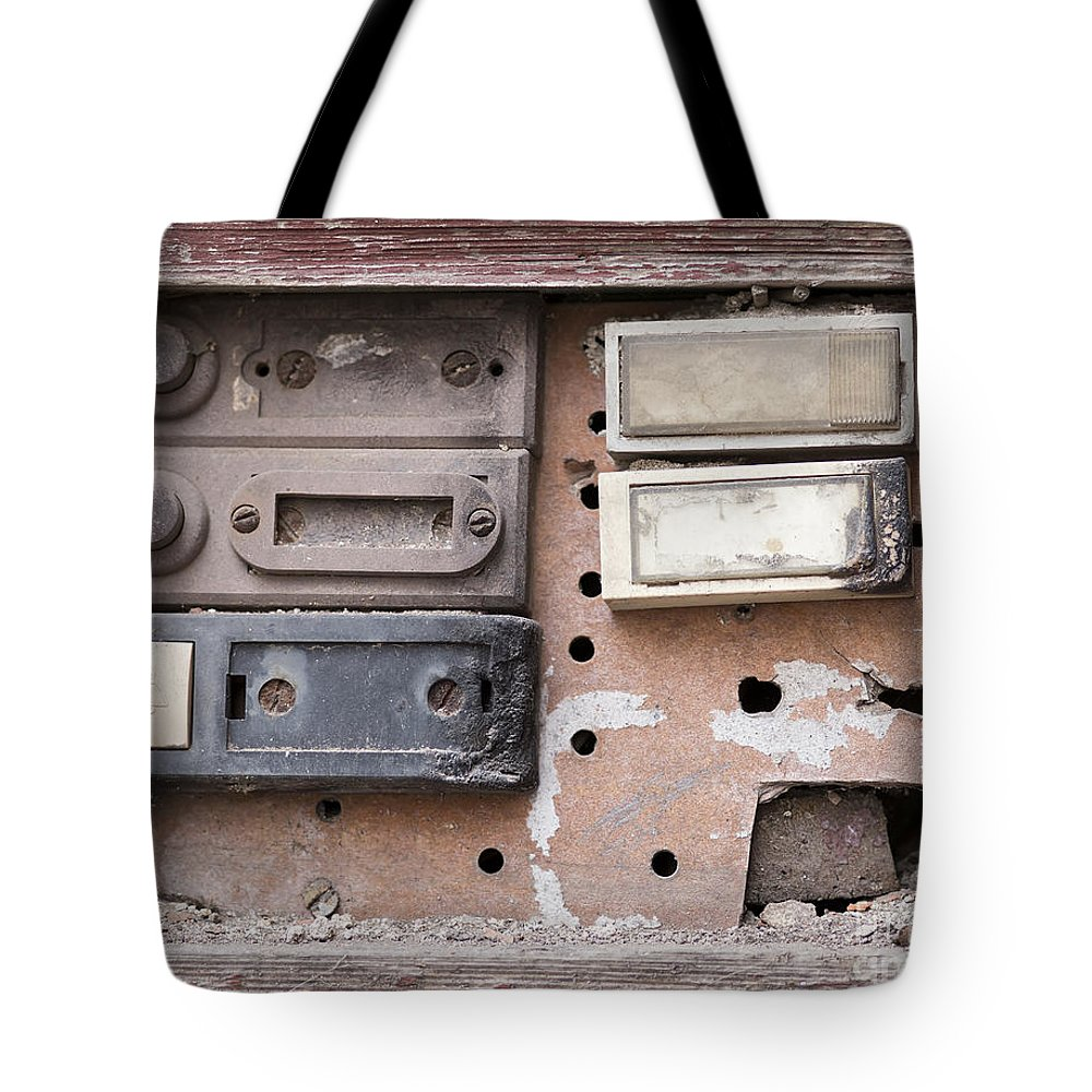 Doorbell Tote Bag featuring the photograph Doorbells by Michal Boubin