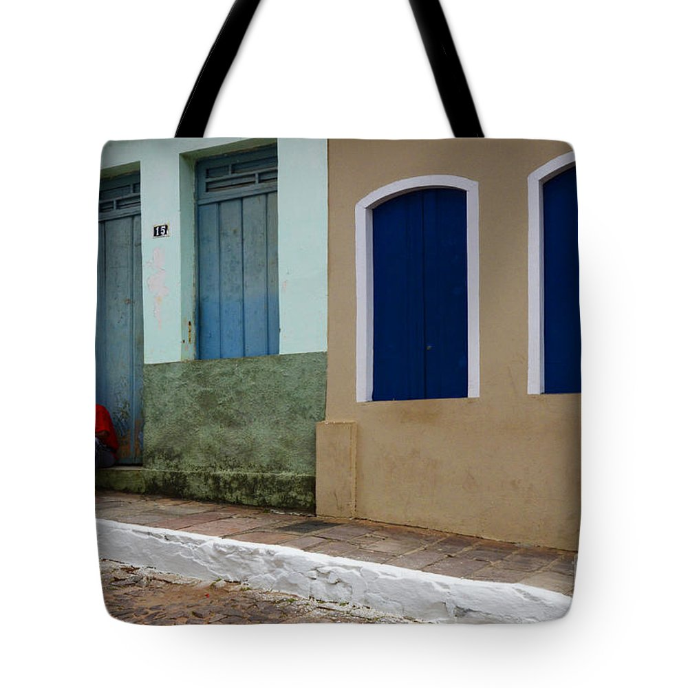 Door Tote Bag featuring the photograph Doors And Windows Lencois Brazil 3 by Bob Christopher
