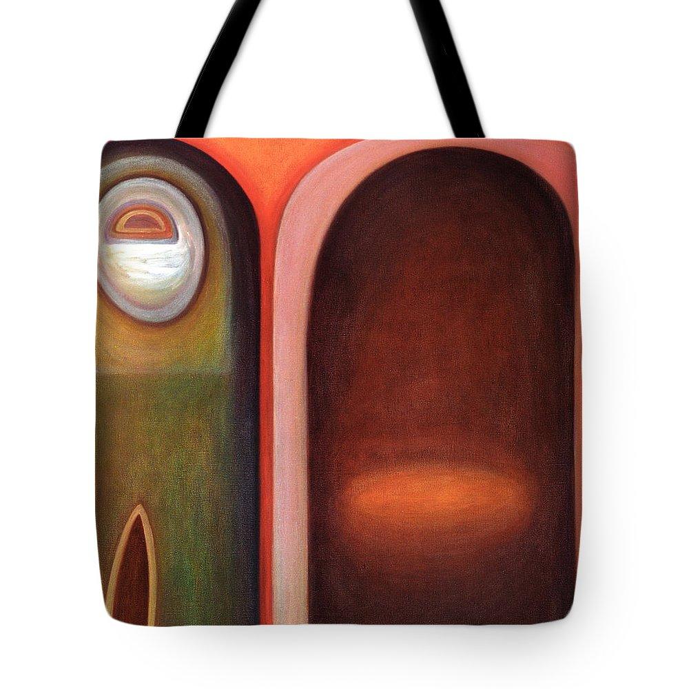 Doorway Tote Bag featuring the painting Doorway by Judith Chantler
