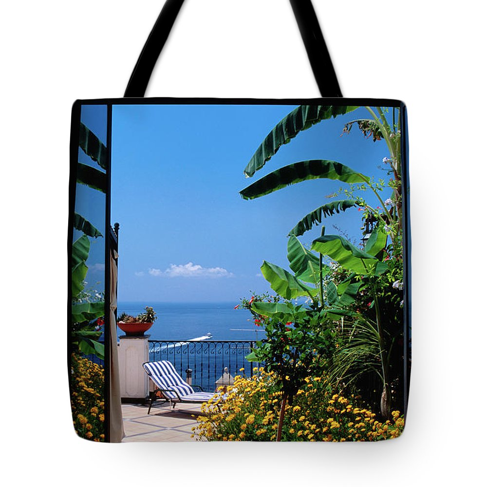 Tranquility Tote Bag featuring the photograph Doorway To Terrace At Hotel Punta by Dallas Stribley