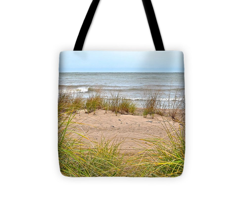 Sea Tote Bag featuring the photograph Down By The Sea by Frozen in Time Fine Art Photography