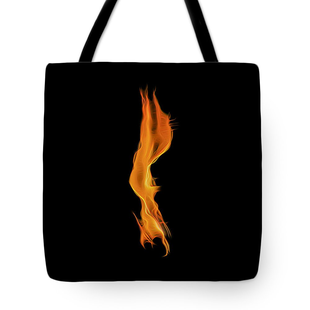 Fire Tote Bag featuring the photograph Down In Flames by Wes Jimerson