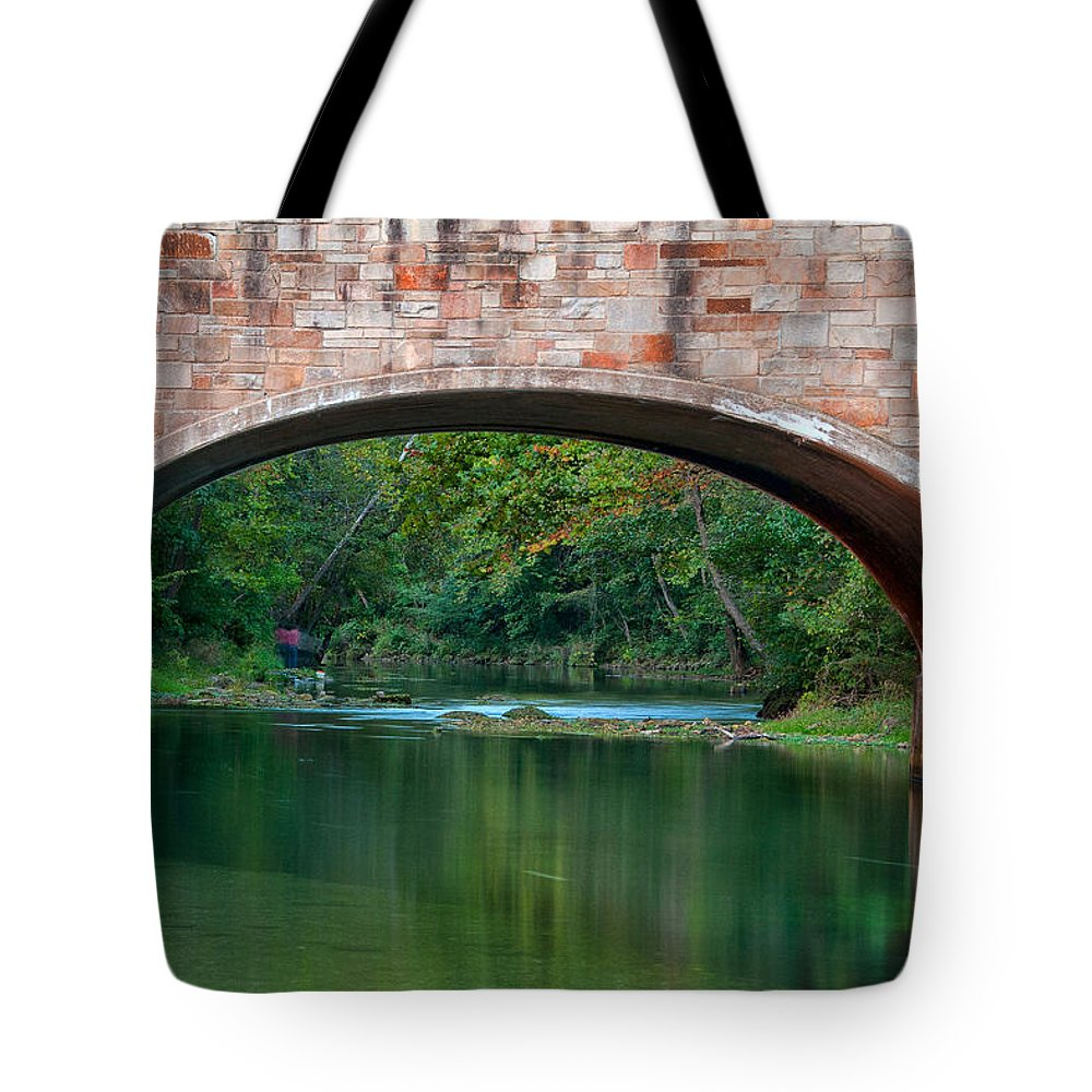 Bennett Spring Tote Bag featuring the photograph Down Stream by Steve Stuller