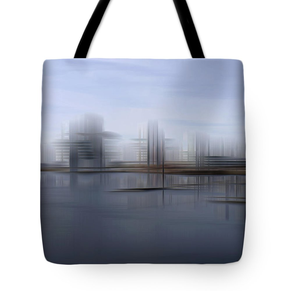 Cardiff Tote Bag featuring the photograph Down The Bay by Kevin Round