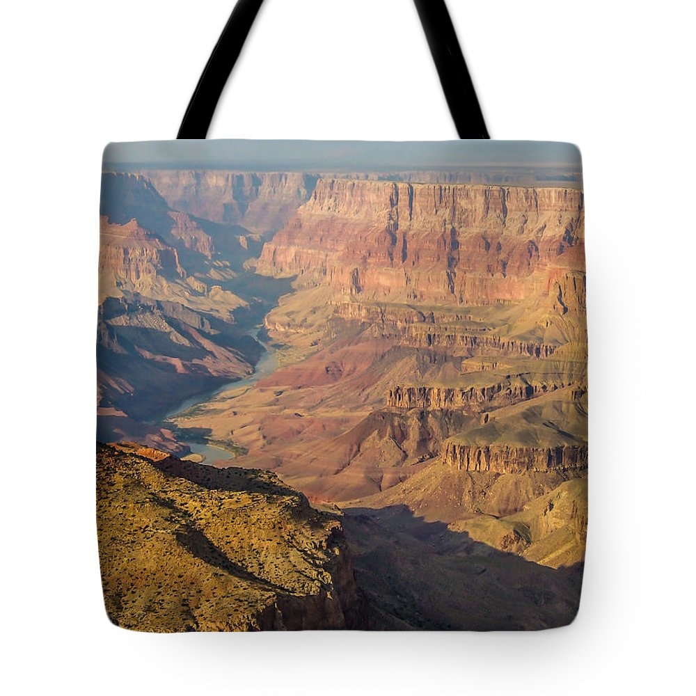 Landscape Tote Bag featuring the photograph Down The Canyon by Marc Crumpler