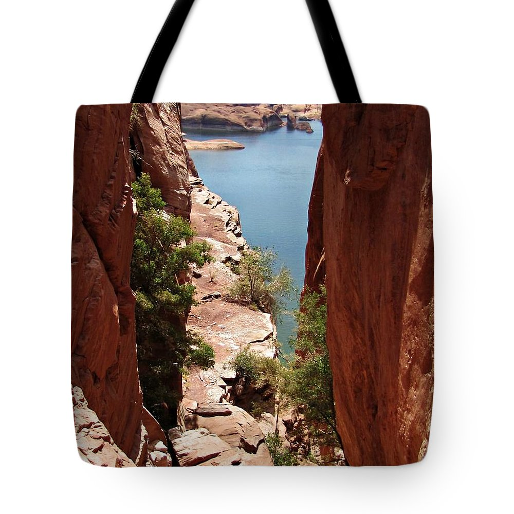 United States Tote Bag featuring the photograph Down-the-hole by Sheryl Young