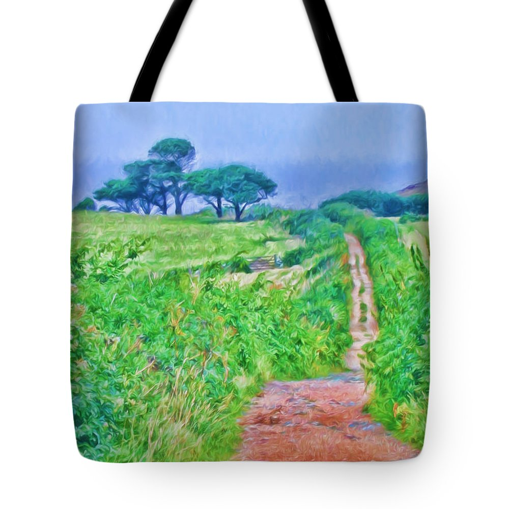 Down To The Sea Tote Bag featuring the photograph Down To The Sea Herm Island by Bellesouth Studio