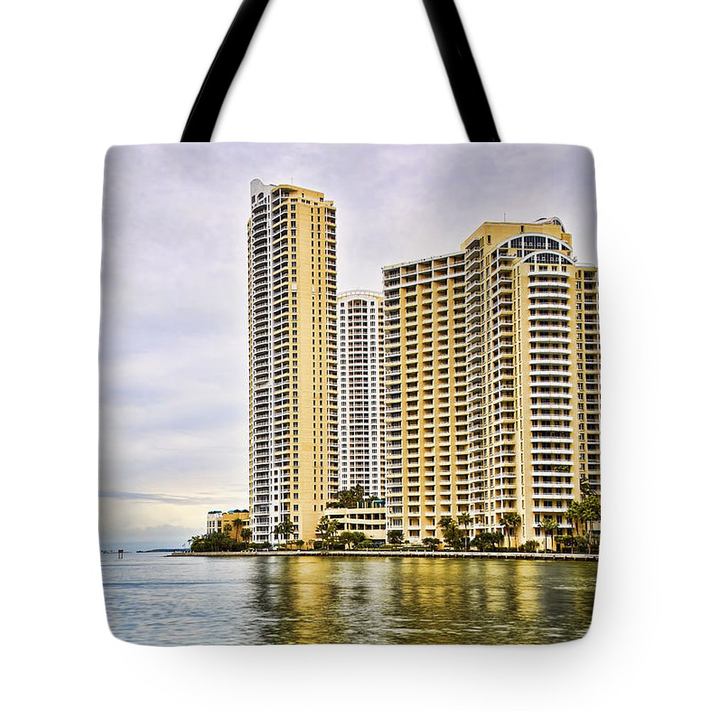 Reflection Tote Bag featuring the photograph Downtown Buildings 2 by Eyzen M Kim