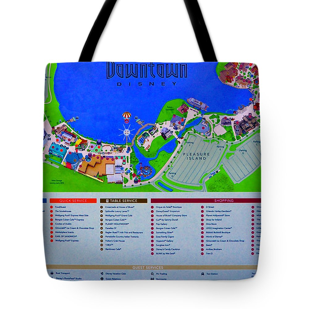 Downtown Disney Florida Map.Downtown Disney Florida Map Classic Tote Bag For Sale By David Lee
