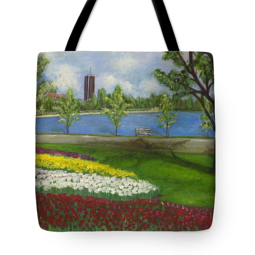 Dow's Lake Tote Bag featuring the painting Dow's Lake - Ottawa by Huy Lee