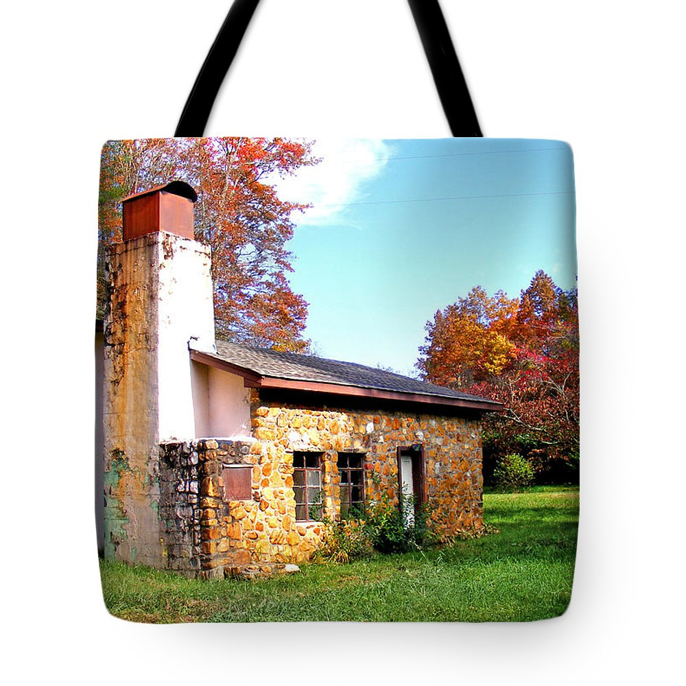 Rock House Tote Bag featuring the photograph Dr Cannon's House by Duane McCullough