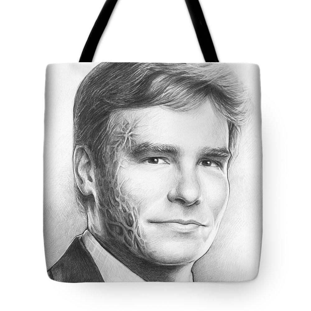 House Md Tote Bag featuring the drawing Dr. Wilson - House Md by Olga Shvartsur