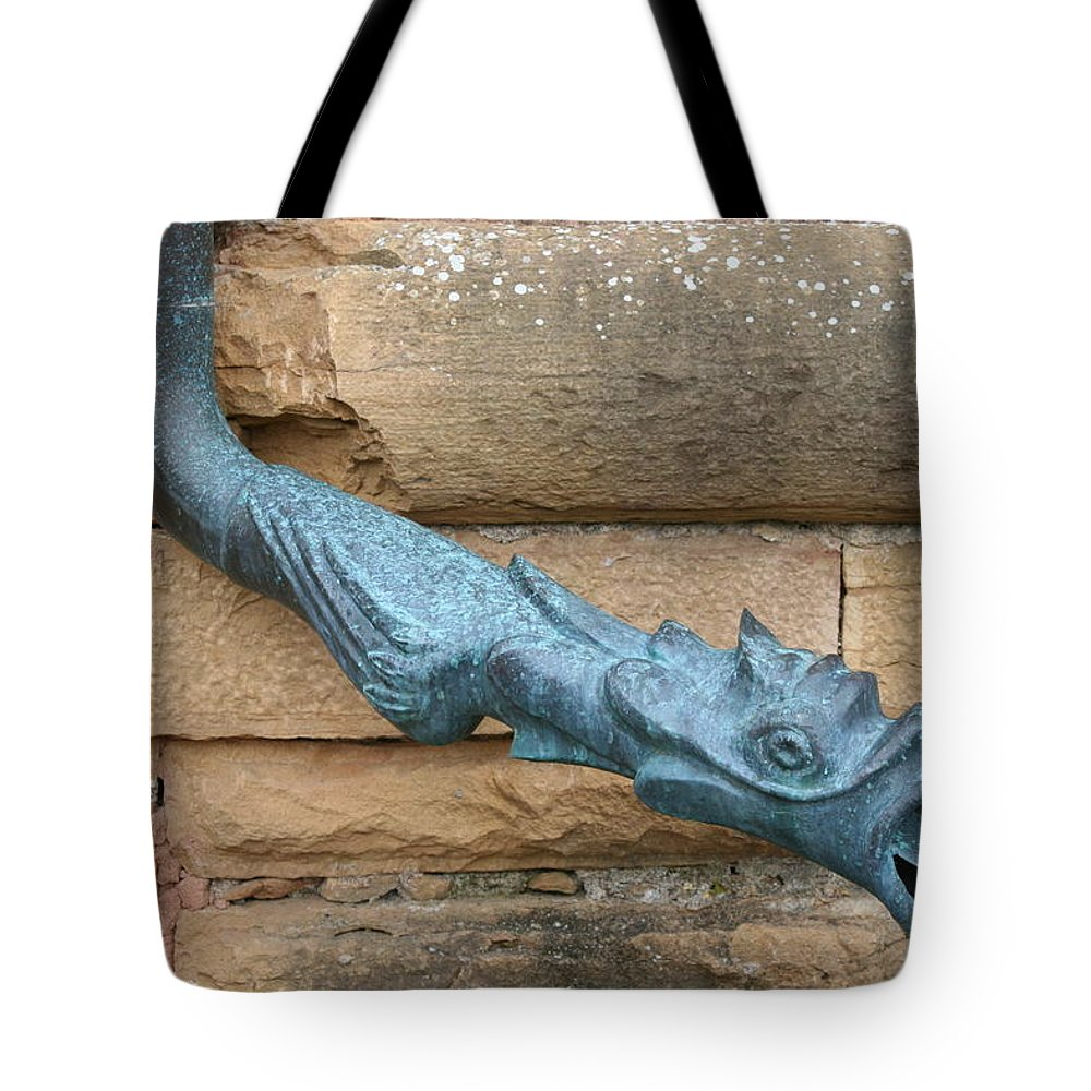 Dragon Tote Bag featuring the photograph Dragon Waterspout Chateau De Cormatin by Christiane Schulze Art And Photography