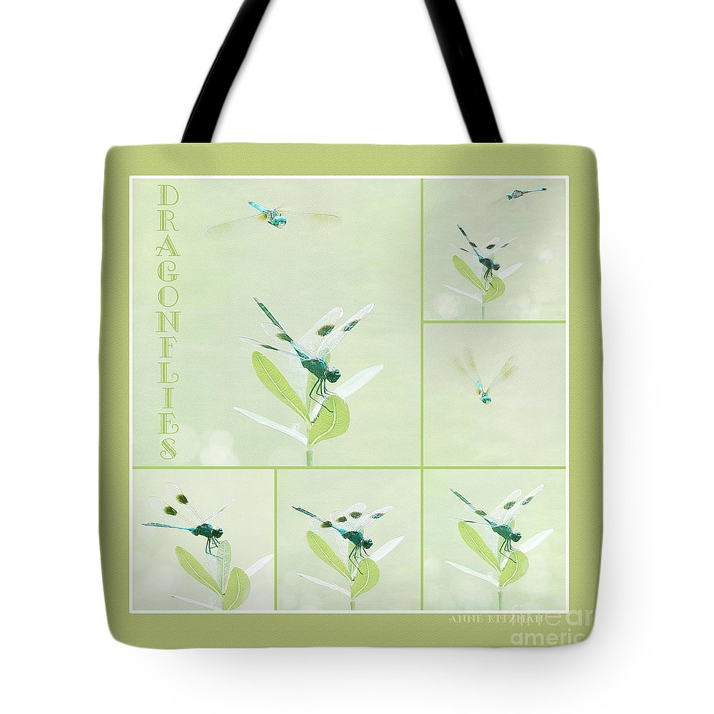 Dragonfly Tote Bag featuring the photograph Dragonflies by Anne Kitzman