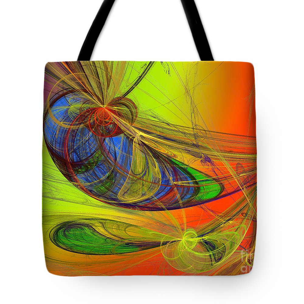 Andee Design Children's Rooms Art Tote Bag featuring the digital art Dragonfly Fancy by Andee Design