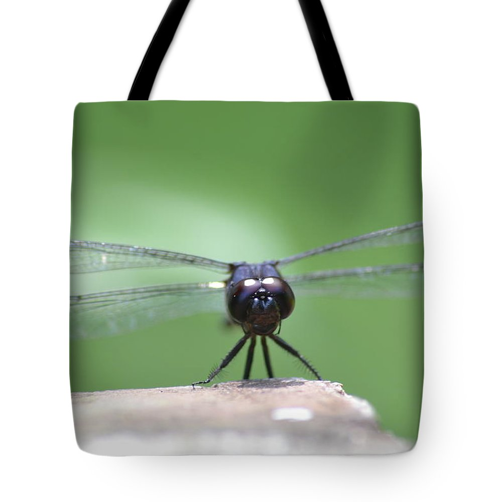 Dragonfly Tote Bag featuring the photograph Dragonfly by Clyde Mayberry