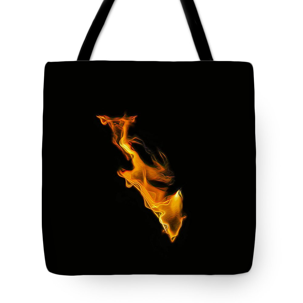 Fire Tote Bag featuring the photograph Dragons Breath by Wes Jimerson