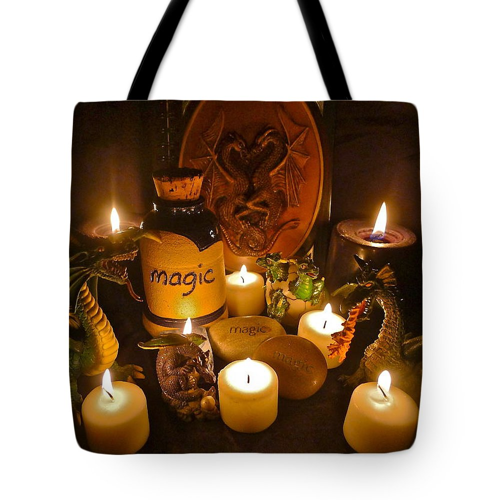 Dragon Tote Bag featuring the photograph Dragons by Denise Mazzocco