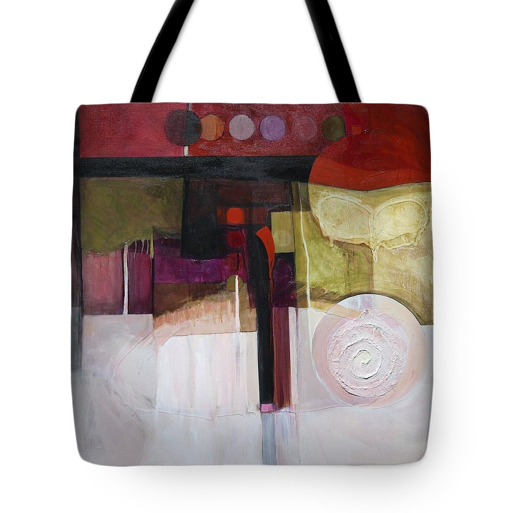 Paper Tote Bag featuring the painting Drama Too by Marlene Burns
