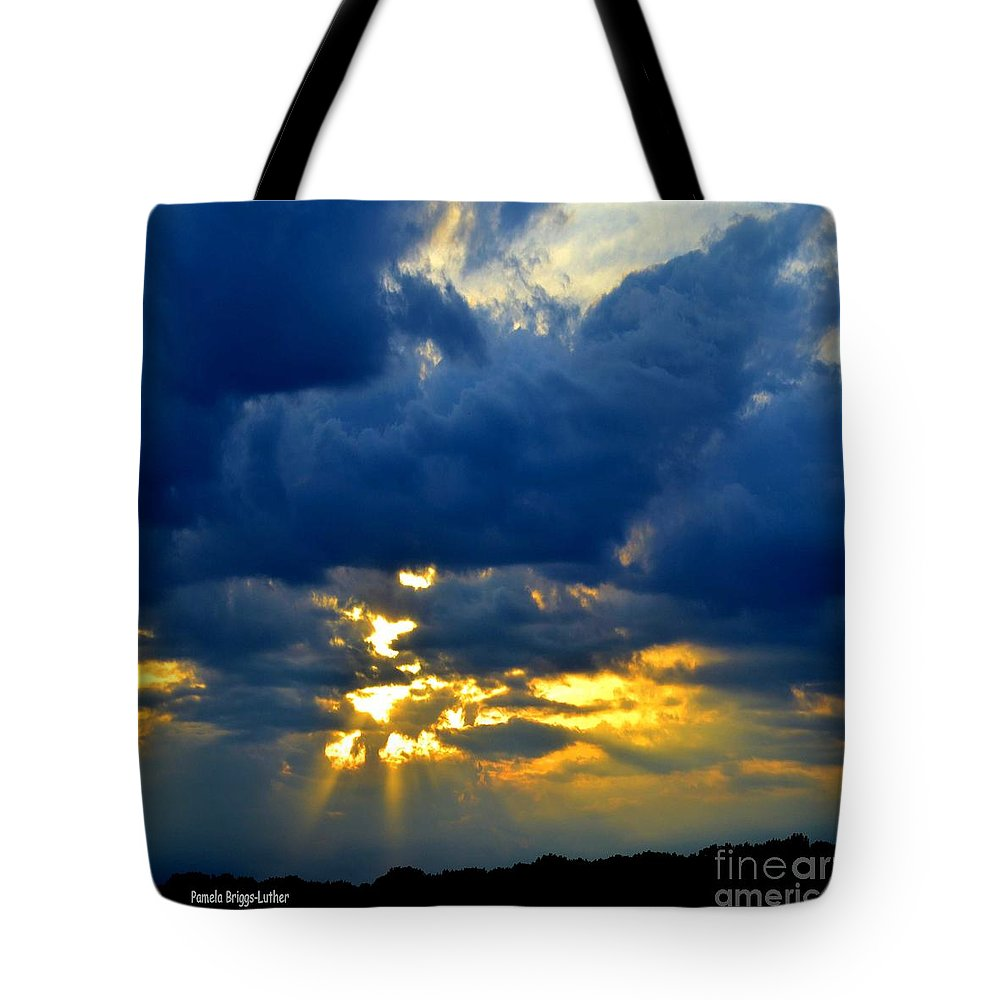 Dark Clouds Tote Bag featuring the photograph Dramatic Clouds by Luther Fine Art