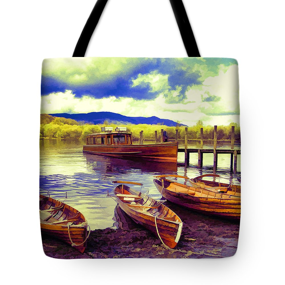 Lakes Tote Bag featuring the photograph Dramatic Derwent by Gillian Singleton
