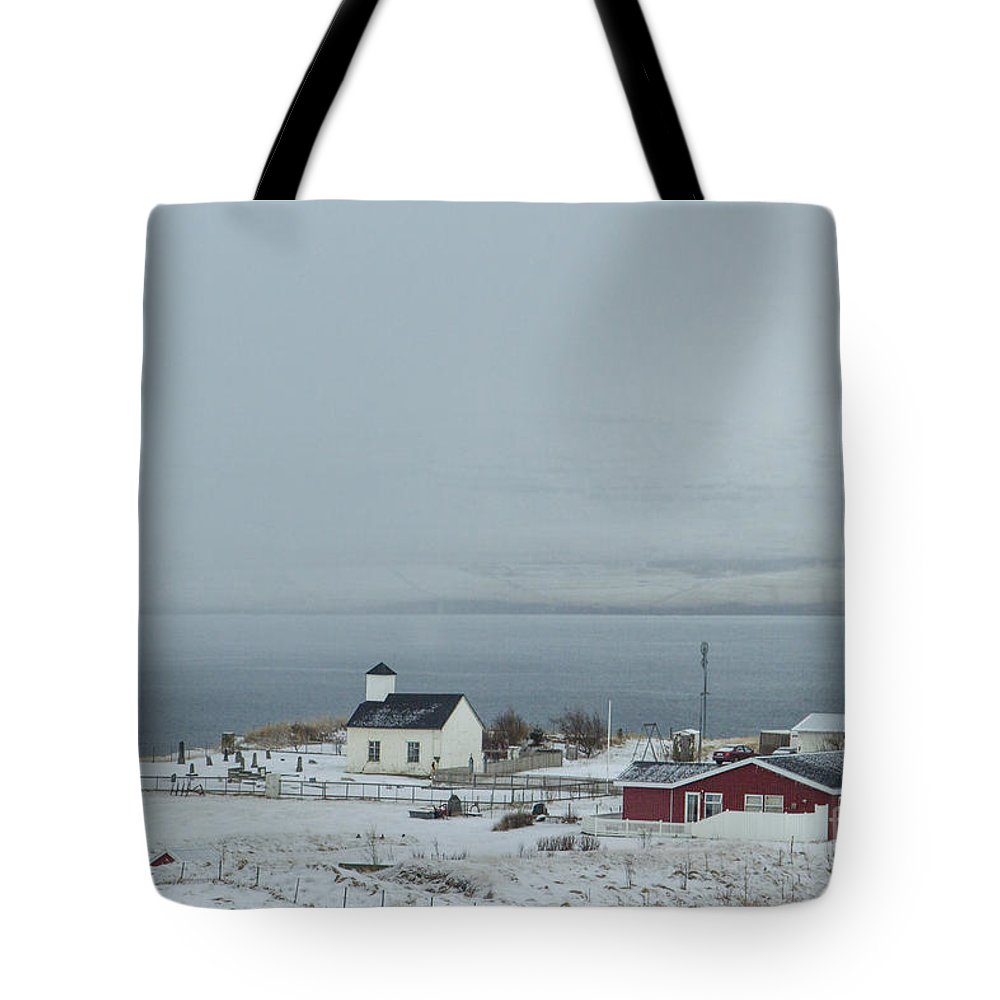 Snaefellsnes Tote Bag featuring the photograph Dream Beneath Winter Mist by Evelina Kremsdorf