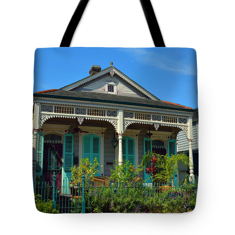 French Quarter Tote Bag featuring the photograph Dream House by Alys Caviness-Gober