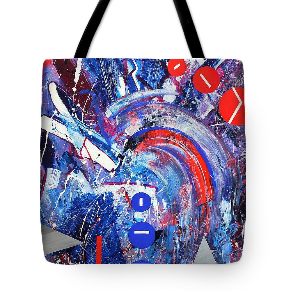 Abstract Tote Bag featuring the painting Dream Run 2001 by RalphGM