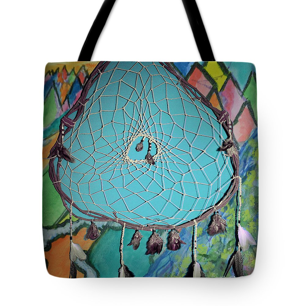 Dream Catcher Tote Bag featuring the mixed media Dream Time by Michelle S White