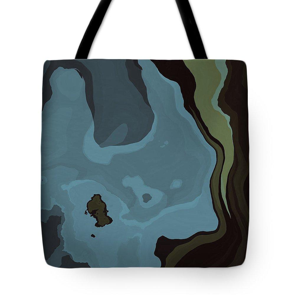 Dreams Tote Bag featuring the digital art Dream World #3 by David G Paul