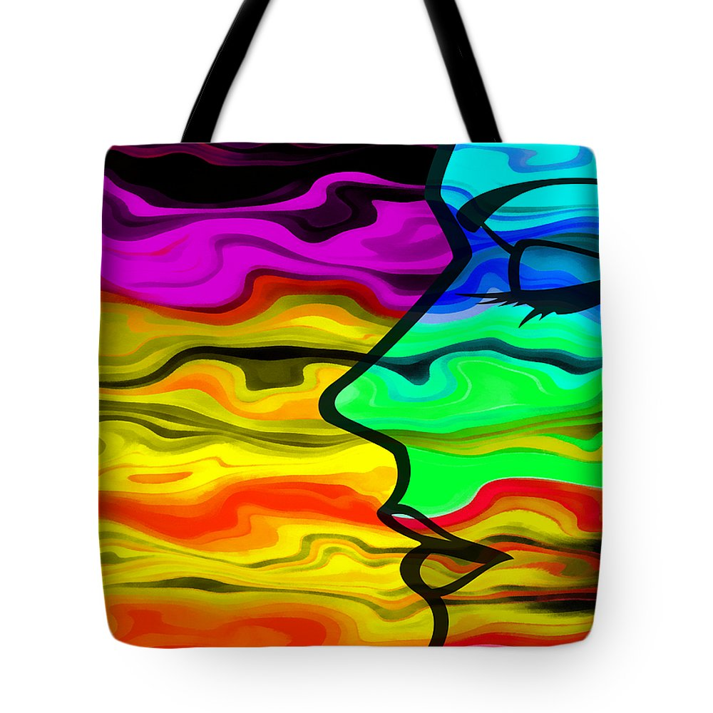 Dream Tote Bag featuring the digital art Dreaming 2 by Angelina Tamez
