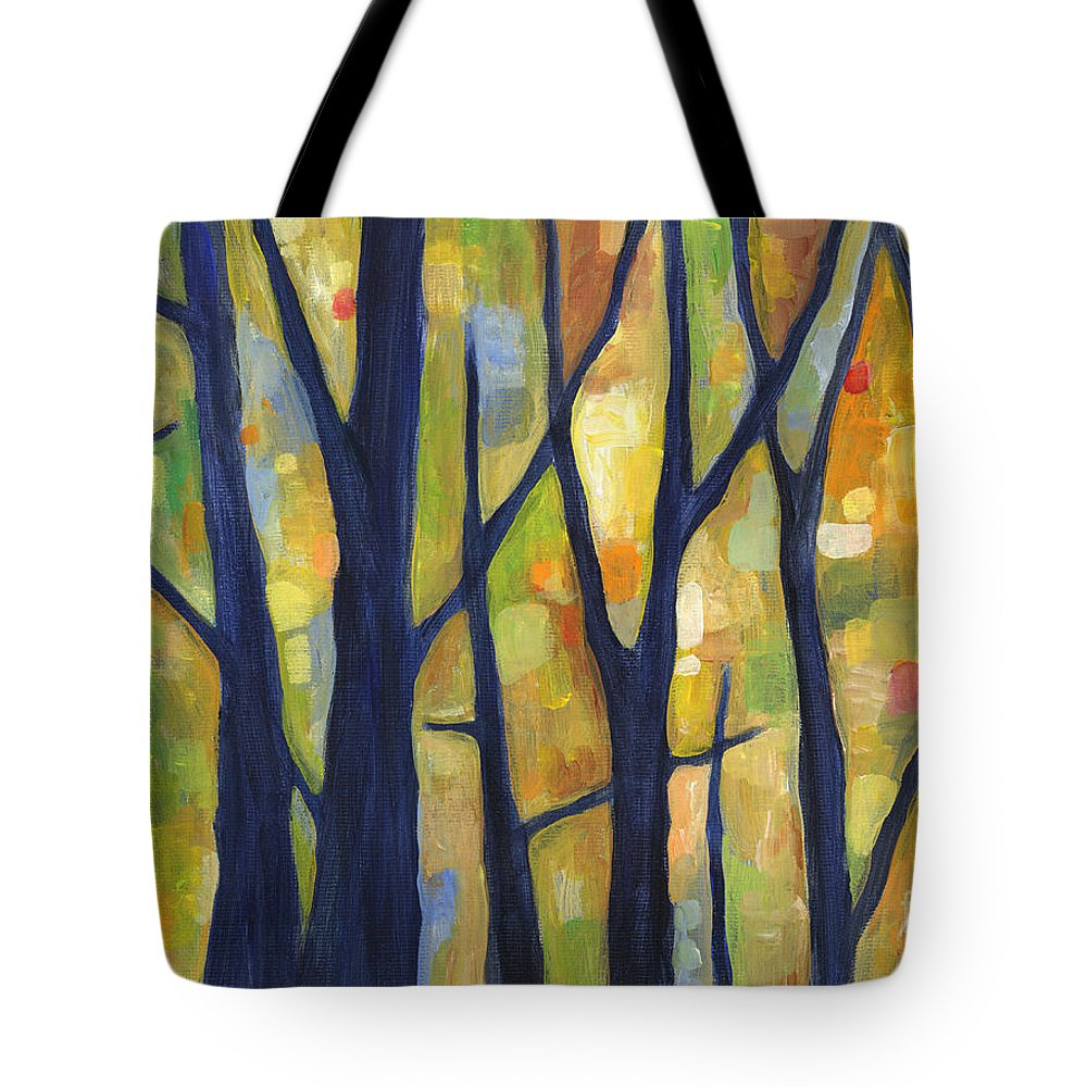 Dreaming Tote Bag featuring the painting Dreaming Trees 2 by Hailey E Herrera