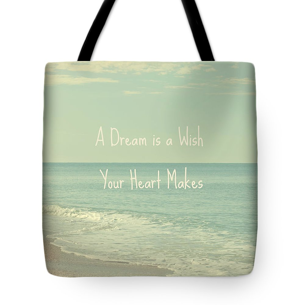 Seascape Tote Bag featuring the photograph Dreams and Wishes by Kim Hojnacki