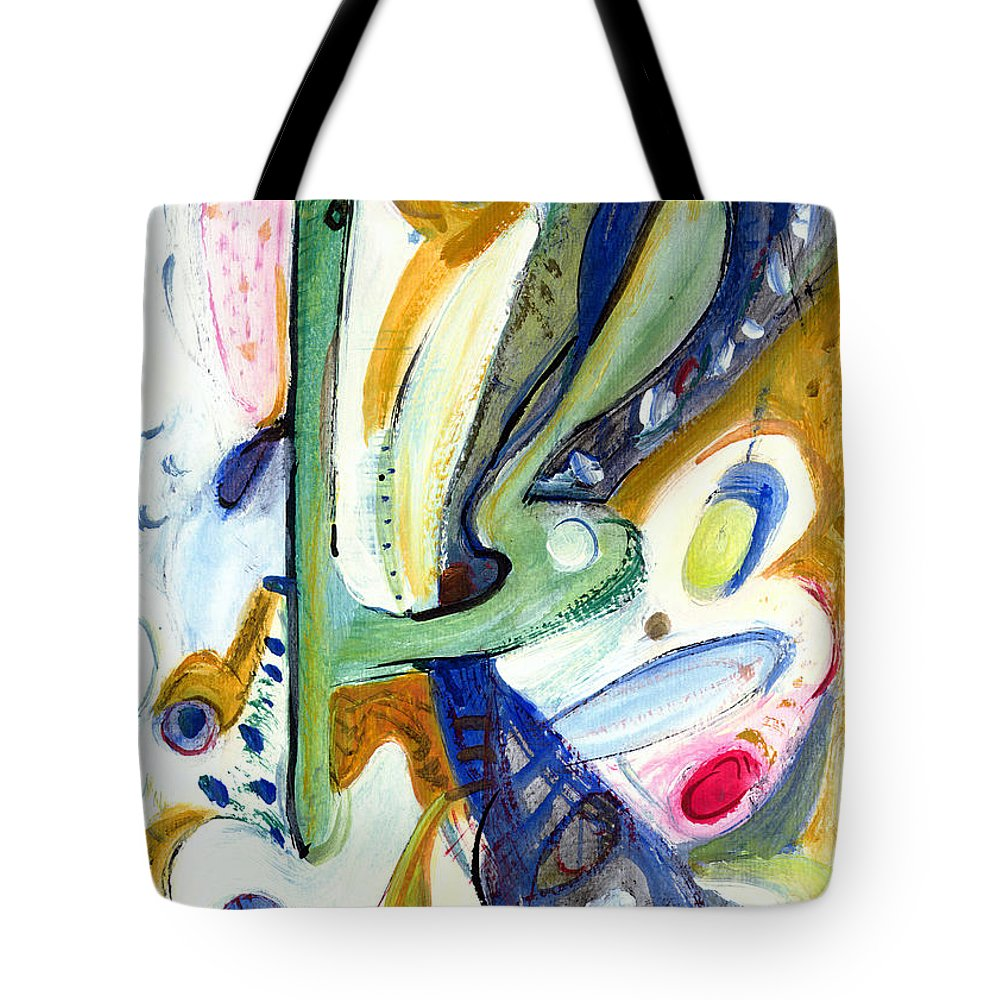 Abstract Art Tote Bag featuring the painting Dreams by Stephen Lucas