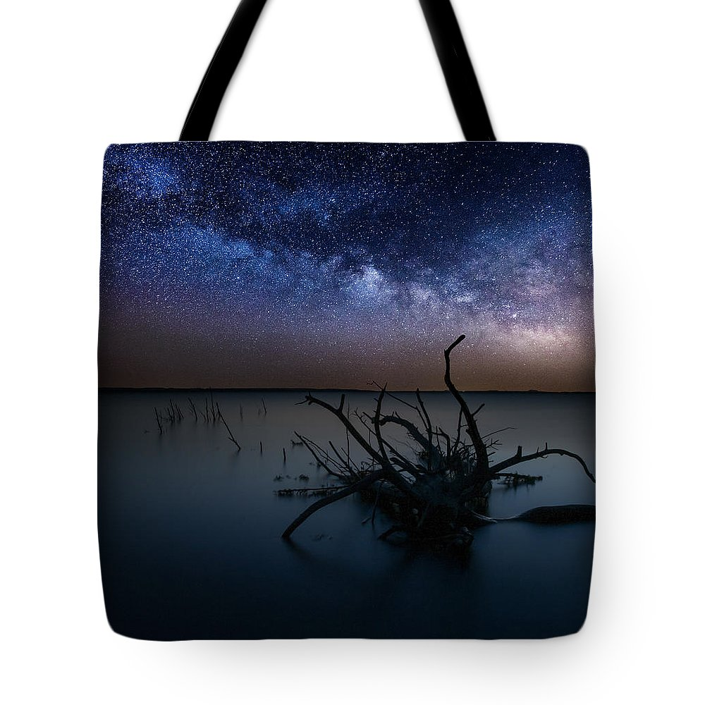Milky Way Tote Bag featuring the photograph Dreamscape by Aaron J Groen