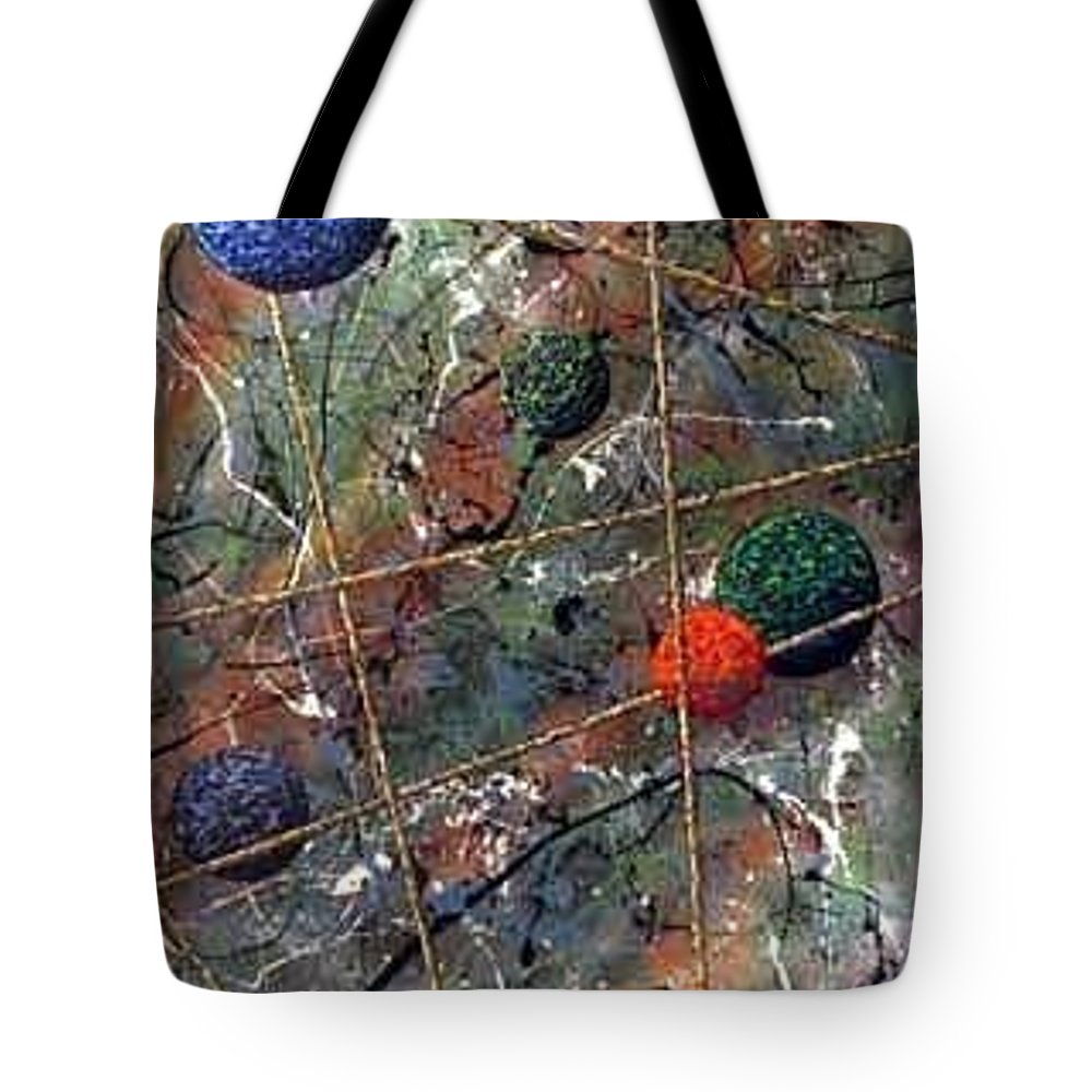 Abstract Tote Bag featuring the painting Dreamscape by Micah Guenther