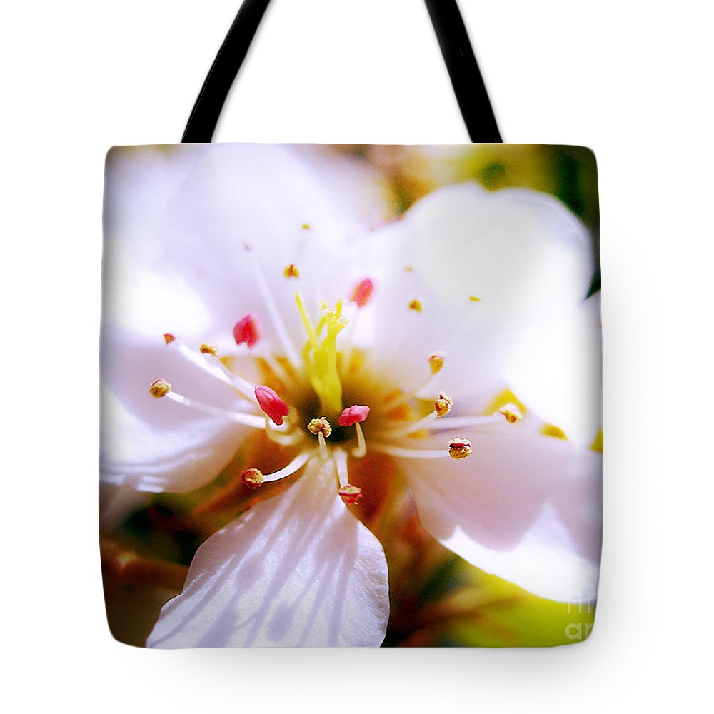 Blossom Tote Bag featuring the photograph Dreamy Cherry Blossom by Nina Ficur Feenan