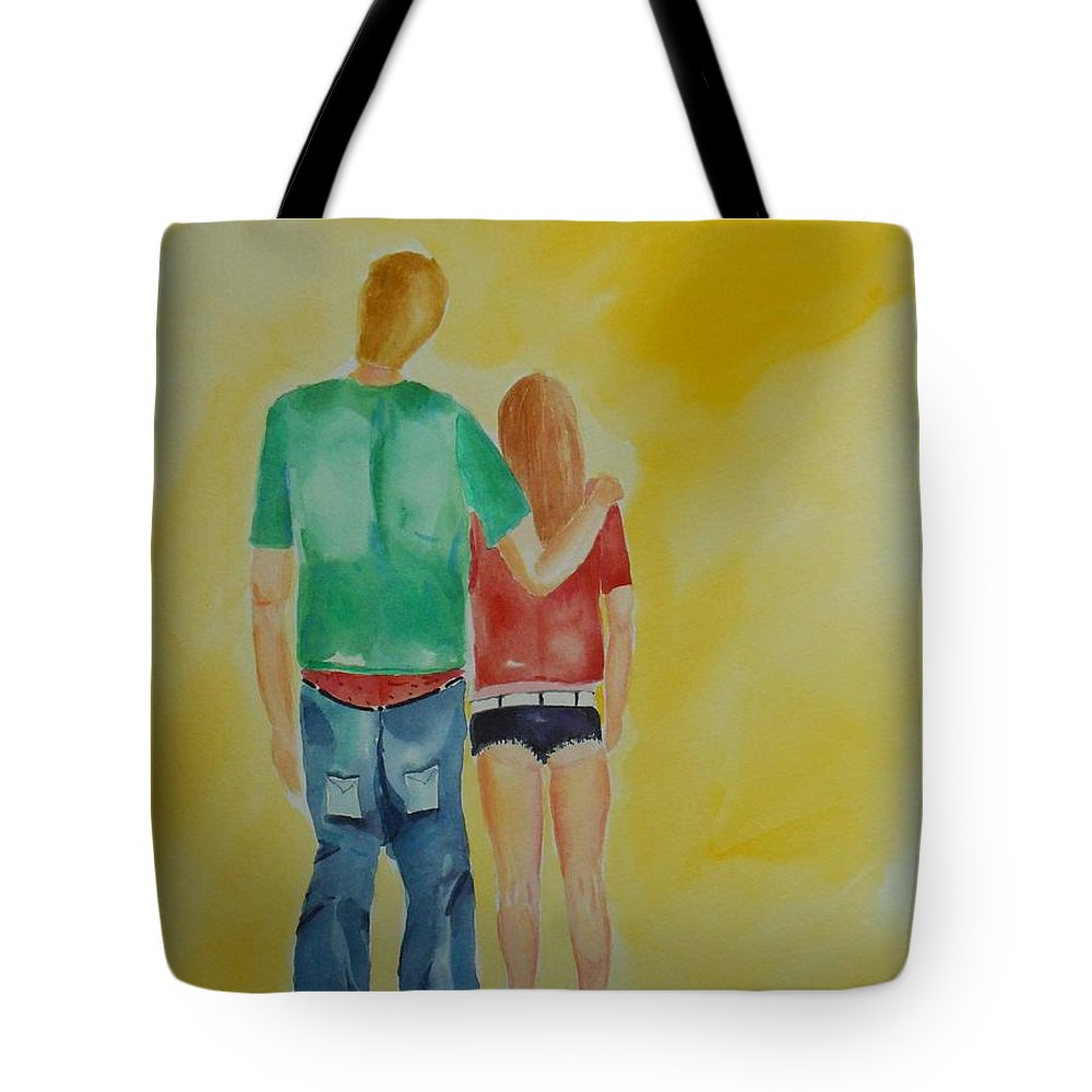 Dress Tote Bag featuring the painting Dressing Down by Geeta Biswas