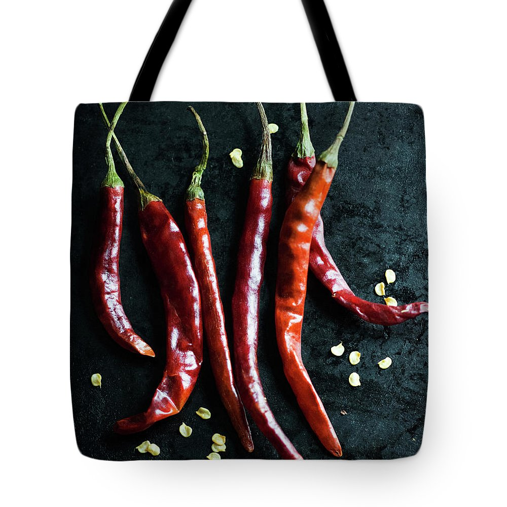 California Tote Bag featuring the photograph Dried Chilli Peppers by Jack Andersen