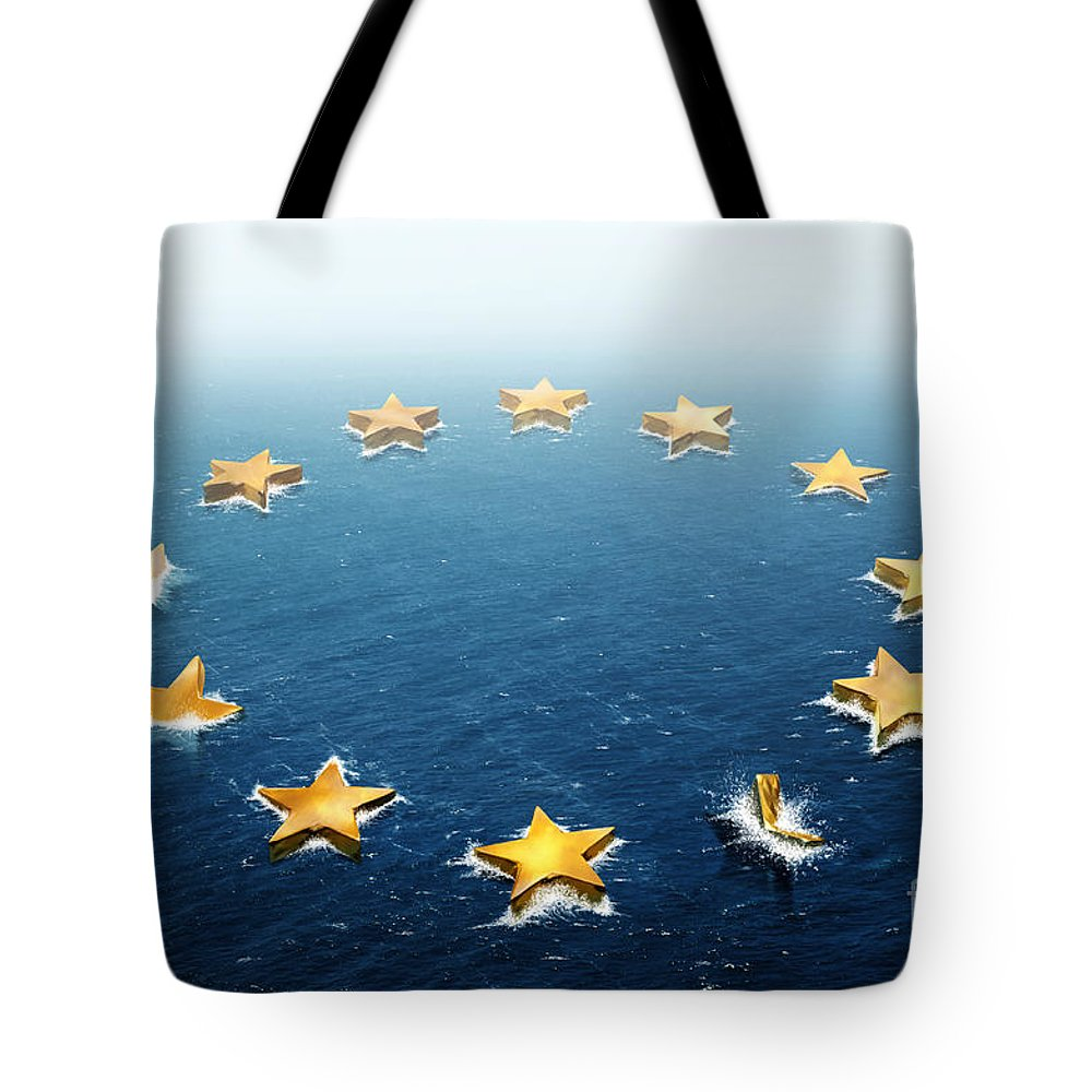 Bankruptcy Tote Bag featuring the photograph Drifting Europe by Carlos Caetano