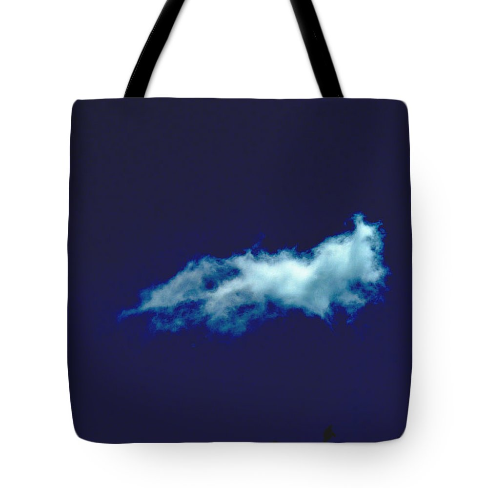 Blue Tote Bag featuring the photograph Drifting by Nancy Wagener
