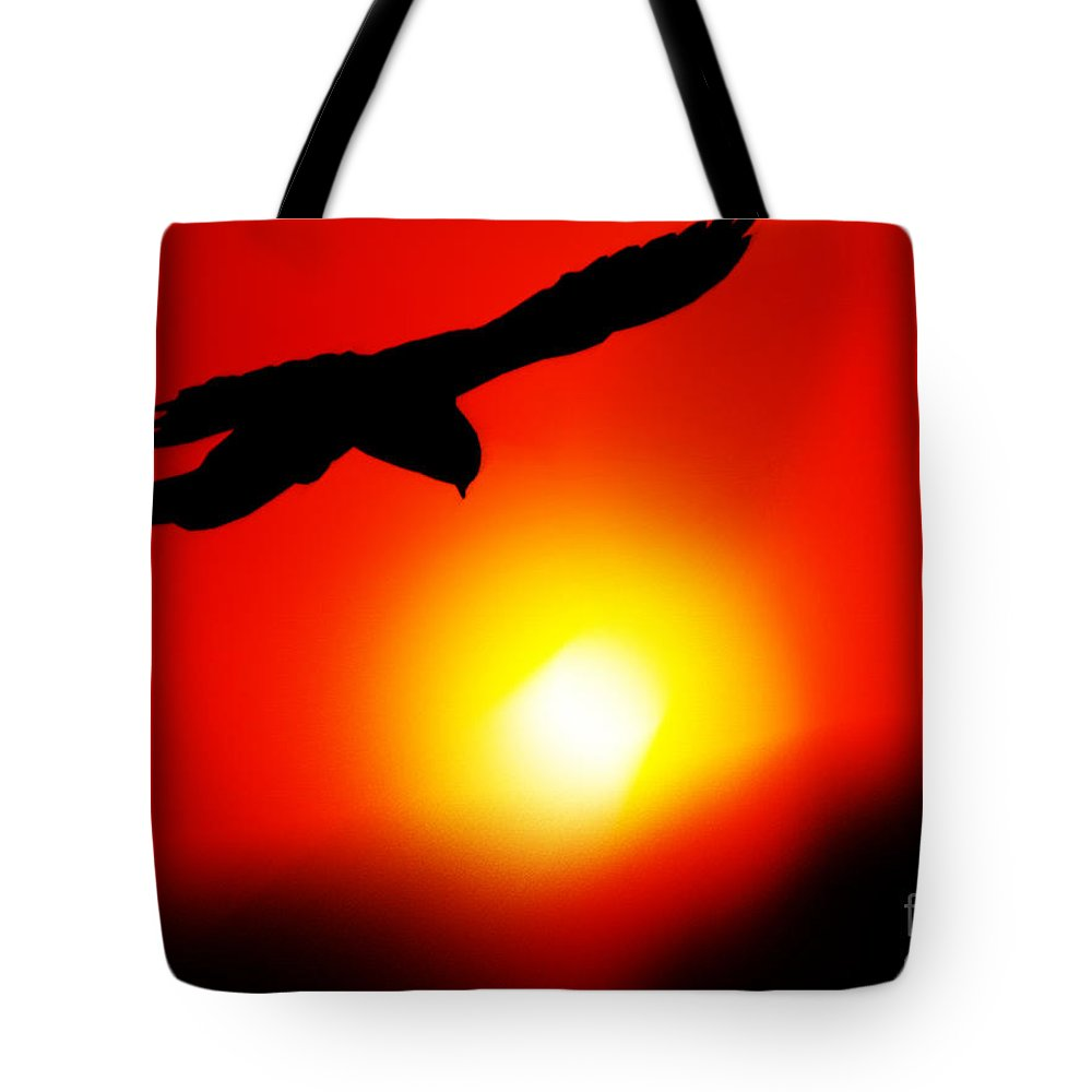 Sunset Tote Bag featuring the painting Drifting by Neil Finnemore
