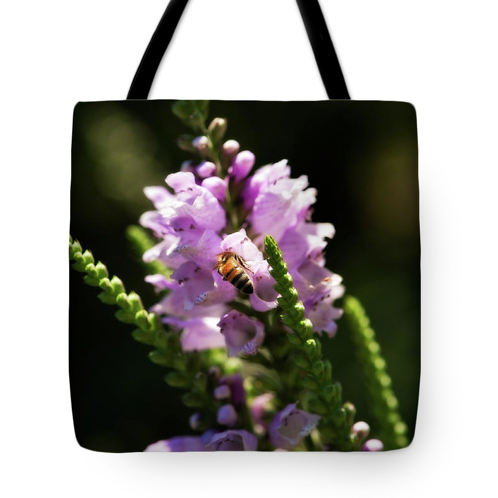 Botanical Tote Bag featuring the photograph Drink Of Nectar by Venetta Archer