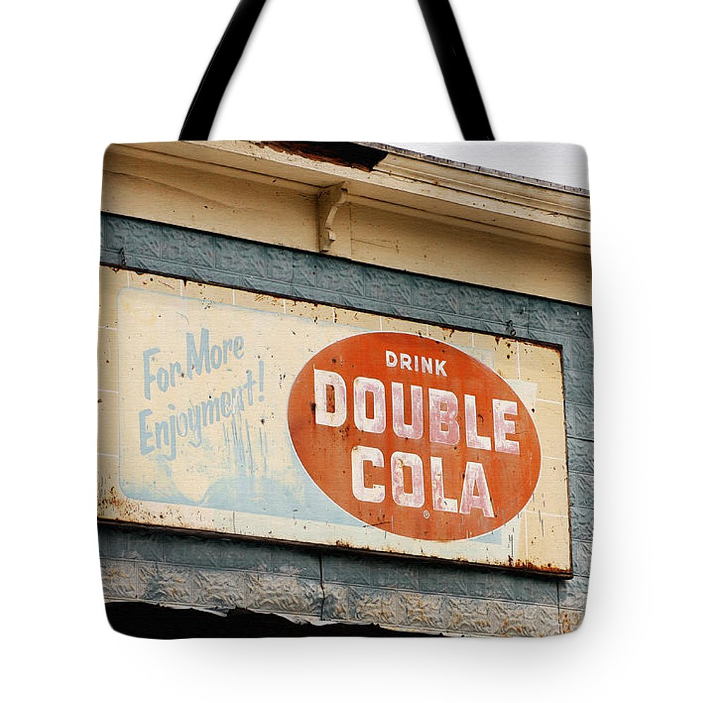 Glendale Kentucky Tote Bag featuring the photograph Drink Sign by Art Block Collections