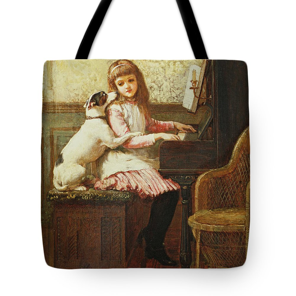 Dog Tote Bag featuring the painting Drink To Me Only With Thine Eyes by Charles Trevor Garland