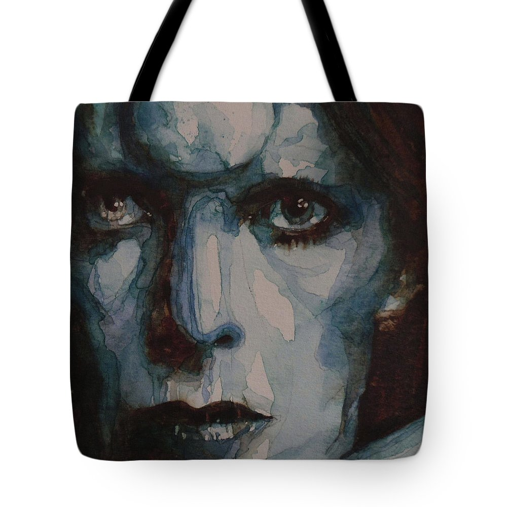 David Bowie Tote Bag featuring the painting Drive In Saturday by Paul Lovering